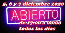 ESPECIAL PUENTE DE DICIEMBRE 5,6 Y 7/12/2020